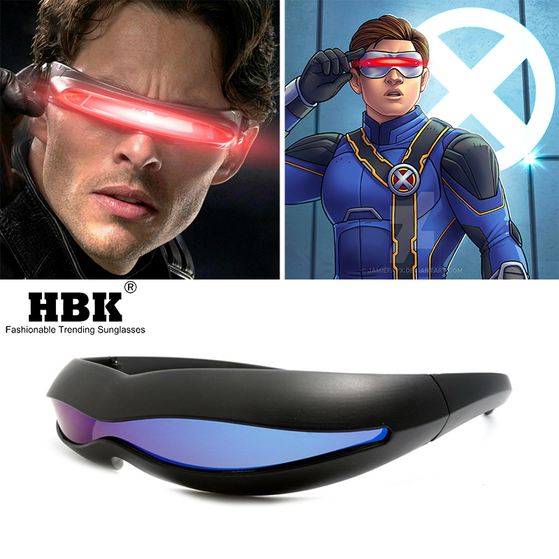 Futuristic X-Men Cyclops Halloween Cosplay Sunglasses Men Polarized Memory Material Special Unique Party Glasses Festival Gift