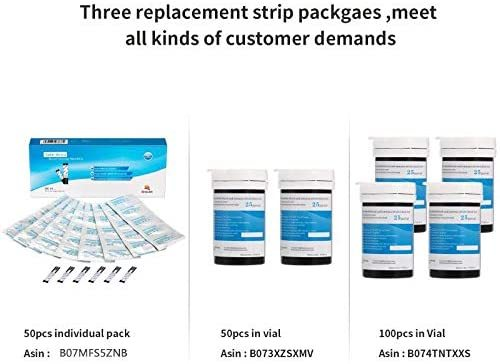 (100pcs) Sinocare Safe-Accu Blood Glucose Test Strips and Lancets for Diabetes Tester 1