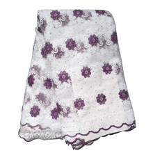 Latest Light Purple Color African Lace Fabric With Beads 2019 High Quality French Tulle Lace Swiss Lace Fabric For Woman Dresses