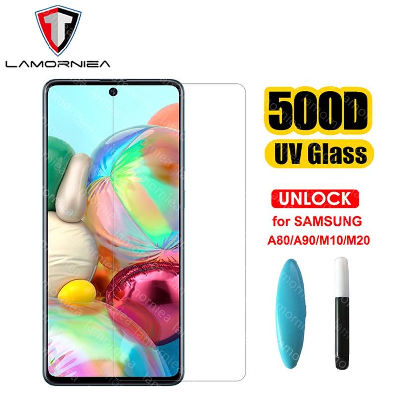 100D UV Liquid Glue Glass For Samsung Galaxy A51 A71 A50 A30 A20 A70 A80 A90 A10 M10 M20 M30 Screen Protector Film With UV Light