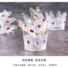 Многофункциональный хрустальный стеклянный подсвечник в форме короны
