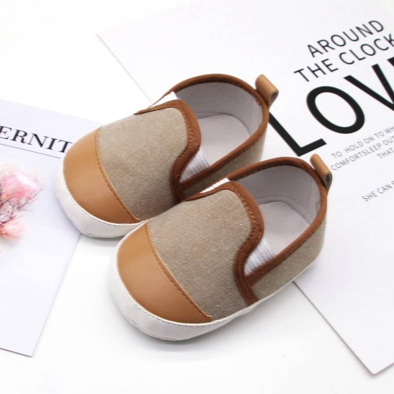 New Baby Shoes First Walkers Baby Boy  Shoes Prewalker Soft Sole Slippers Trainers Baby Casual Shoes 11-13cm H