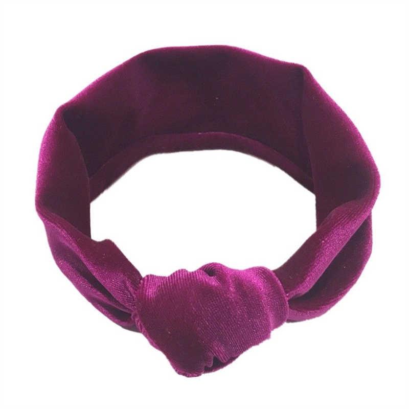11 ألوان كبيرة القوس المخملية Headbands طفلة عمامة معقود الشريط الشعر عقال الرضع اكسسوارات أشرطة رأس