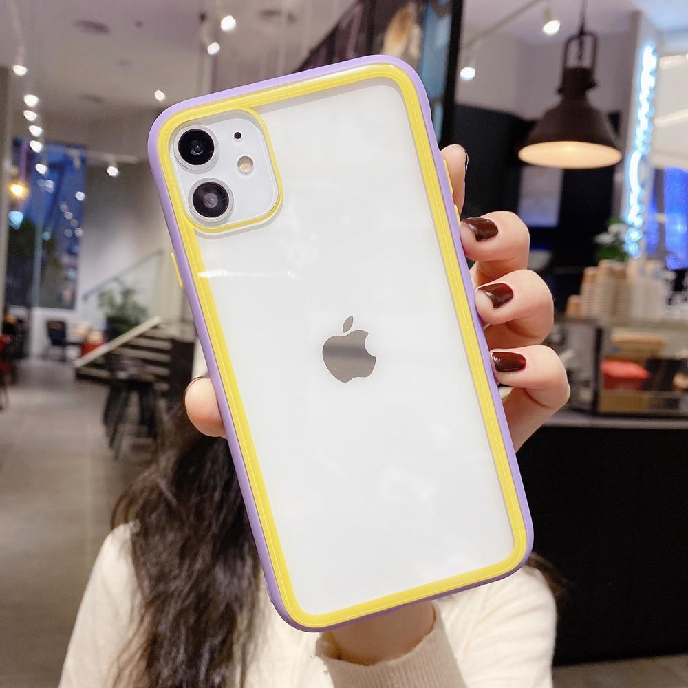 Shockproof Tangguh Transparan Bumper Kasus untuk iPhone SE 2020 Se2 - Aksesori dan suku cadang ponsel - Foto 6
