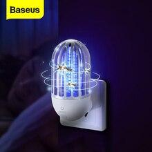 Baseus elektryczna lampa zabijająca komary muchy robaki Zapper do zabijania owadów pułapka LED urządzenie odstraszające szkodniki przeciw komarom noc światło w pomieszczeniach