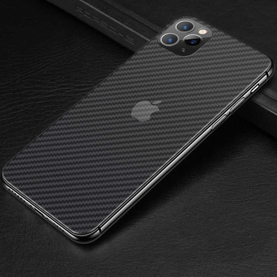 5Pcs Clear 3D Guard Carbon Fiber Soft Matte Back Protective Film for iPhone 11 Pro 7 8 Plus X XS Max XR Cover Screen Protector