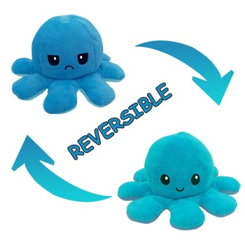 Colors Cute Soft Plush Doll Octopus Doll Double-sided Flip Octopus Plush Toy Doll Marine Life Toys Baby Toys Dropshipping premium new 1pc cute marine life octopus baby plush toy doll octopus multicolor optional dolls