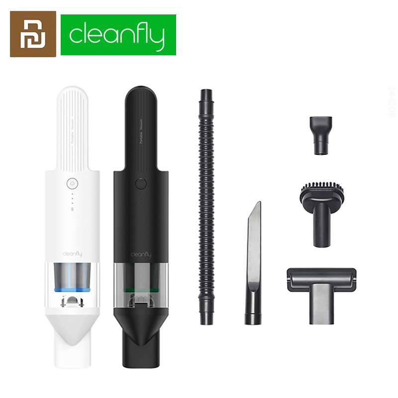 MIJIA Cleanfly FV2 Portable Handheld Vacuum Cleaner For Car Home Hand Wireless Mini Dust Catcher 16800 PA Cyclone Suction Cleane