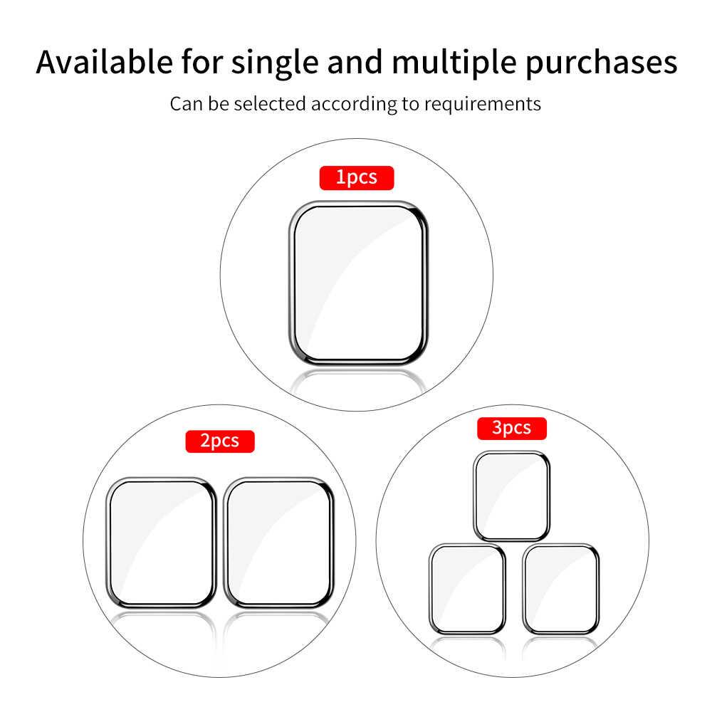 Folia ochronna przezroczysta folia ochronna do iWatch 4 5 40MM 44MM szkło hartowane do zegarka Apple 3 2 1 38MM 42MM