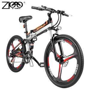 ZPAO Factory Direct Cheap Electric Bike 48V 12.8Ah Lithium Battery Electric Bicycle Folding Ebike With Magnesium Alloy Wheel