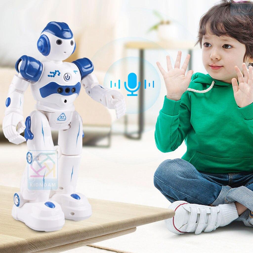 Интеллектуальный робот, многофункциональная детская игрушка с USB-зарядкой, танцевальный пульт дистанционного управления, датчик жеста, игрушка для детей, подарки на день рождения 5