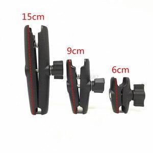 Image 5 - Jadkinstaอลูมิเนียม1นิ้วMount Double Socket Arm Extension Moto MountสำหรับGopro Gamin GPSสมาร์ทโฟนผู้ถือรถจักรยานยนต์