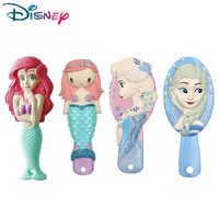 Disney princesse reine des neiges brosse à cheveux brosse cheveux enfants doux antistatique brosse bouclés enchevêtrement sirène poils poignée embrouillement peigne