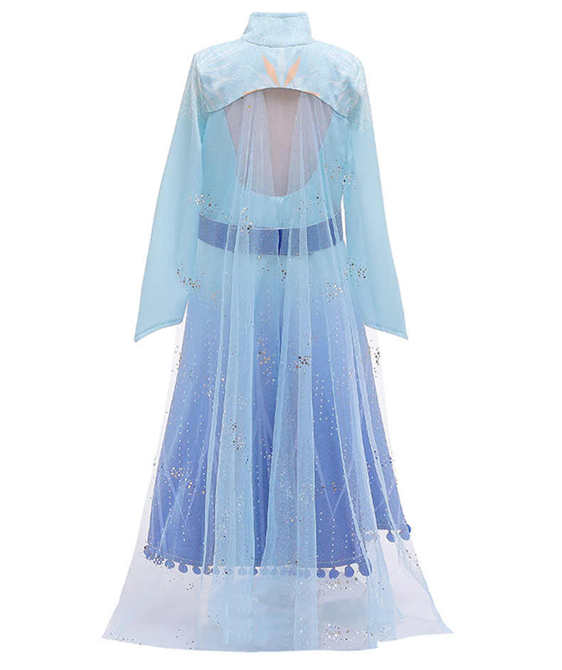 Новинка; платье королевы Эльзы для костюмированной вечеринки; костюмы Эльзы; платье принцессы Анны для девочек; вечерние платья; Fantasia; Одежда для девочек; комплект Эльзы