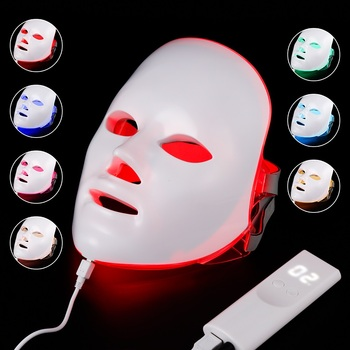 Facial Mask Therapy 7 colors Light Beauty Photon Skin Rejuvenation Face Care Treatment Beauty Anti Acne Therapy Whitening SPA 7 colors led light therapy mask photon led therapy facial mask beauty spa skin rejuvenation wrinkle acne remover face care tool