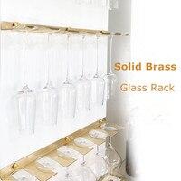 Glass Holder Shelf Hanger Goblet Rack Wine Rack Liquor Shelf Hanging Brass Wall Bracket Gold