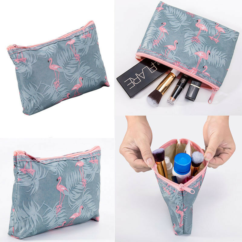 1pc Flamingo Make Up Bag Women's Handbag Waterproof  Cosmetic Travel Women Men Cosmetic Pack Ladies Portable Bag