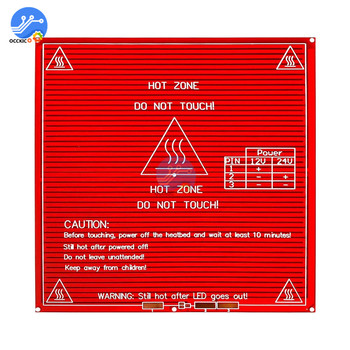 MK2B 3D Printer Heated Bed PCB Heatbed Hot Plate Upgraded Heatbed 12V 24V 214*214*1.6MM 3D Printers Part Accessories
