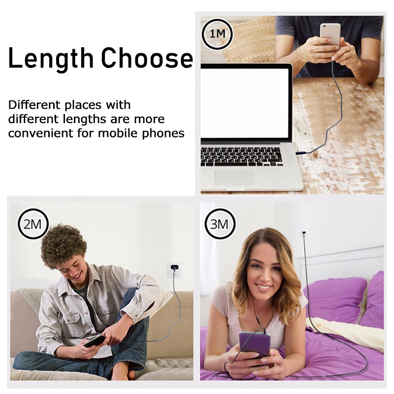 3A Type C USB Cable Fast Charging Cord For Samsung A50 Xiaomi Mi9 Redmi Note 7 Tablet Android Phone Micro USB Cable Wire Charger in Mobile Phone Cables from Cellphones Telecommunications