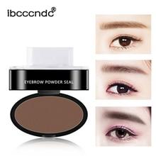 3PCS/Set  Waterproof Eyebrow Natural Shape Brow Stamp Powder Palette