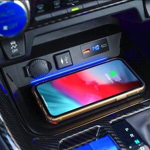 Беспроводная панель зарядного устройства для Toyota RAV4, 2019, 2020, 10 Вт, 15 Вт, автомобильный беспроводной держатель для быстрой зарядки телефона, п...