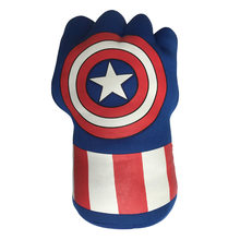 Anime Captain America Gloves Plush Toys for Children Wearable Cute Soft Stuffed Plush Dolls Toys Kids Christmas Birthday Gifts(China)