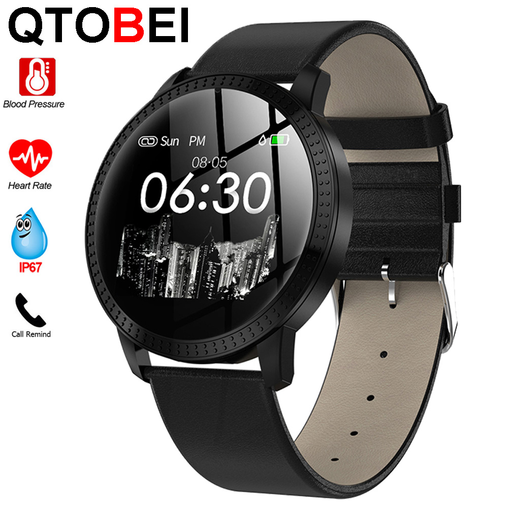 Smart Watch Men Women <font><b>OLED</b></font> Screen Push Message Bluetooth Connectivity Fitness Tracker Heart Rate Monitor For Android IOS image