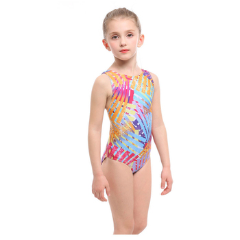 2020 New Professional Girls One-piece Swimming Trunks With Crotch High quality Digital Print bathing Children suit Swimsuit - Yellow, 3XS