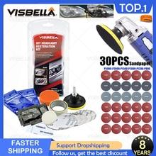 VISBELLA Headlight Restoration Kit Polishing Headlamp Brightener DIY Car Light Lenses Deep Clean Car Headlight Repair Paste Sets