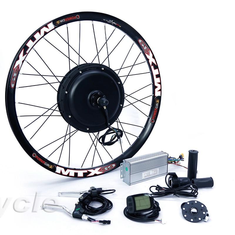 Elektrische Bike Kit 1500w Motor Rad 48V E Bike Kit 1500W Rad Motor Elektrische Fahrrad Conversion Kit für 20-29in Hinten Hub Motor