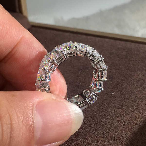 โรแมนติกหญิงหัวใจรอบหินแหวนรักหมั้นแหวน Zircon แหวน