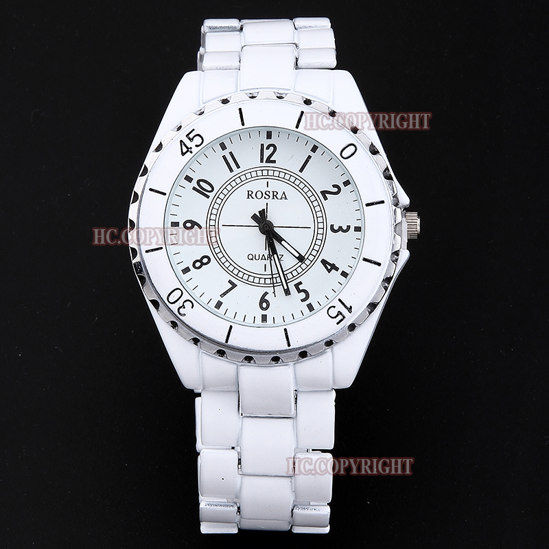 Relogio Feminino New Fashion Casual Women Men White Stainless Steel Quartz Watch Ladies Sport Watch Gift