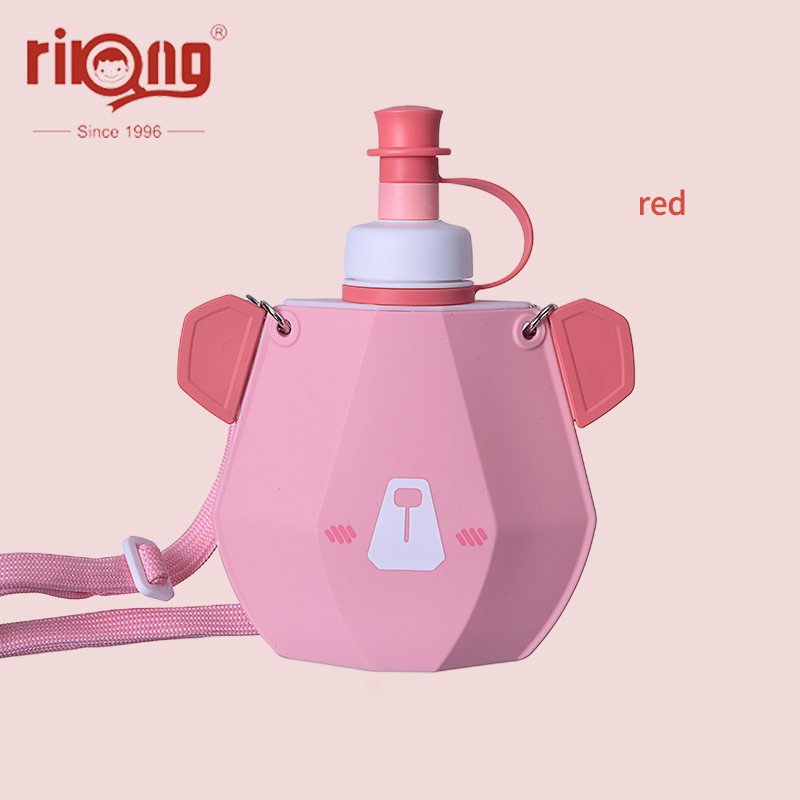 Rikang Children Cup Straw Bottles BPA Free Cartoon Cup  Leak-proof Straw Bottle Portable Sport Kettle For Kids Sippy Cup