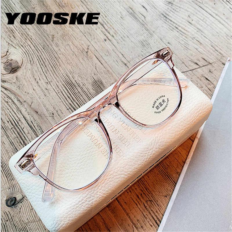 Yoske 2020 óculos de luz anti azul moldura de óculos feminino quadro de computador óculos de homem vintage quadros transparentes