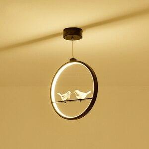 Скандинавский современный светодиодный подвесной светильник, светильник в виде Ангела из смолы для спальни, гостиной, кухни, подвесные рож...