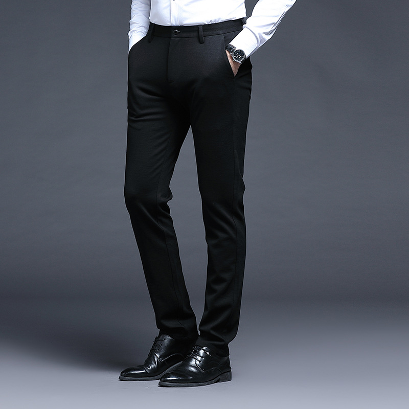 [] 2019-Straight-Cut Business Casual Pants Going To Work Men'S Wear Business Trend Line Men's Trousers 1 PCs Color 172