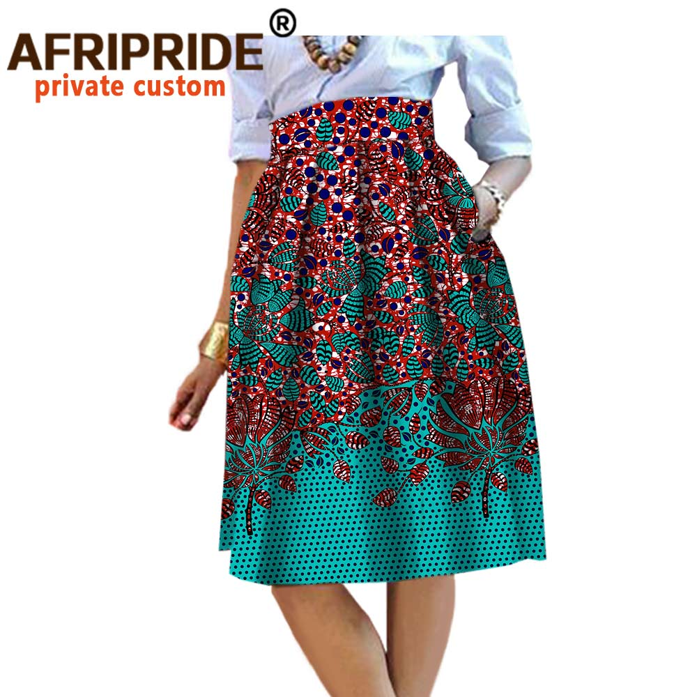 2020 summer Original african style garment midi skirt for women private custom high quality batik cotton femmal clothing A722704