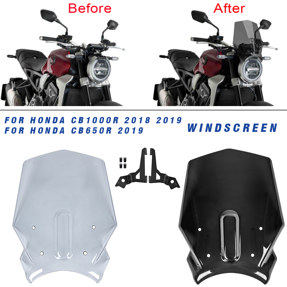 Wind Screen Motorcycle Windshield Windscreen for Honda CB1000R 2018 <font><b>2019</b></font> 2020 CB650R CB 1000 R CB 1000R 18 19 20 image