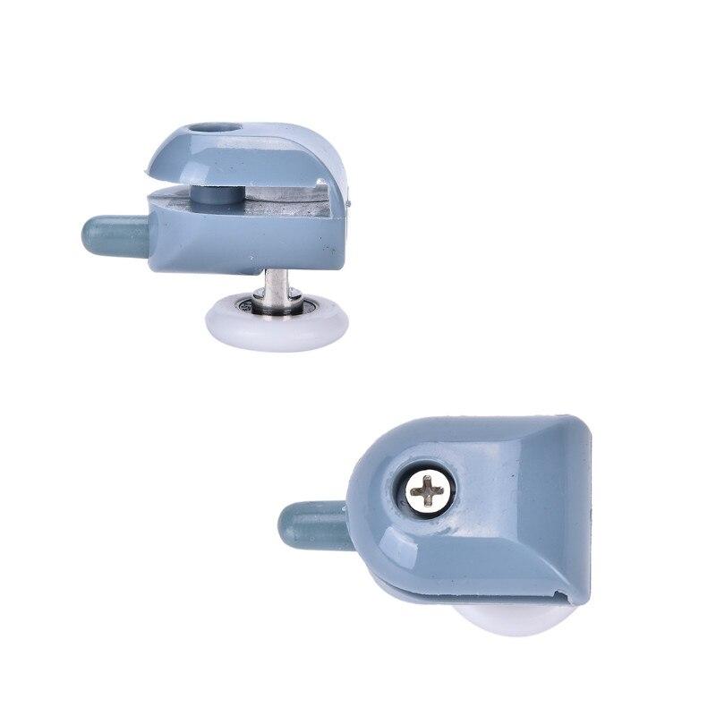 1 adet Tek duş kapısı Silindirleri Koşucular Tekerlekler Kasnaklar Yedek Üst/Alt Duş Jantları 25mm Donanım Araçları