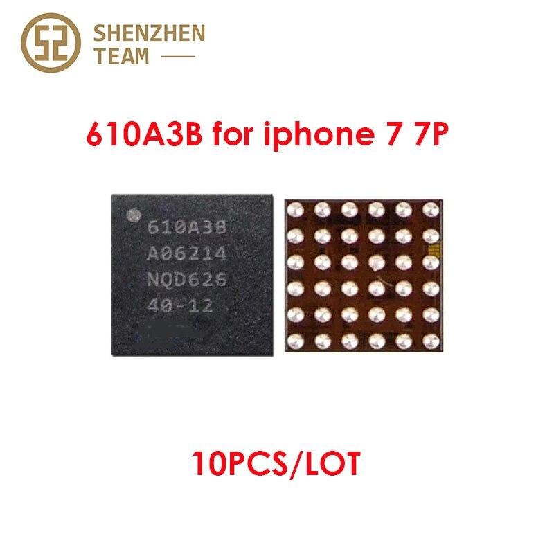 SZteam 10pcs/lot 1610A3B ORIGINAL U2 IC Tristar 610A3B Charging IC for iPhone 7/7P Integrated Circuits IC de Carga Circutos New