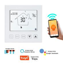 WIFI termostat regulator temperatury inteligentny termostat pokojowy elektryczne ogrzewanie podłogowe głos współpracuje z Alexa Google Home Tuya tanie tanio KETOTEK WIFI THERMOSTAT