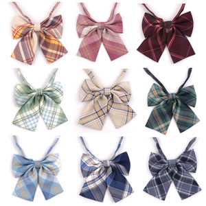 Feminine Plaid Bowtie Casual Bow tie For Women Uniform Collar Butterf Bowknot Adult Check Bow Ties Cravats Girls Bowties