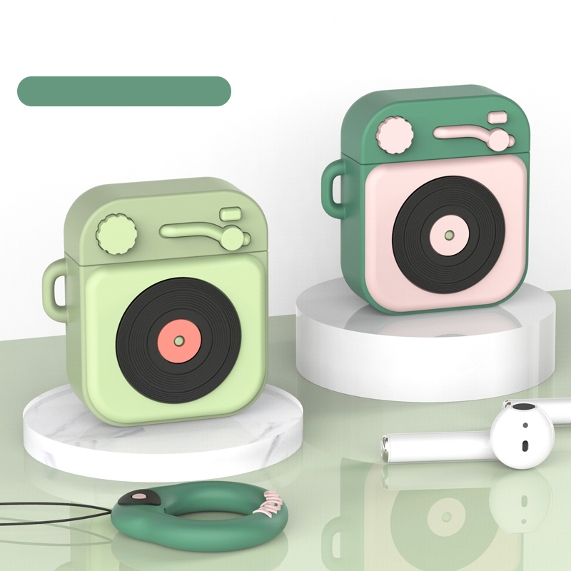 Earphone Case For Airpods Case Silicone Cute Cartoon Soft Headphone Case for Apple Airpods Earpods Cover with hooks