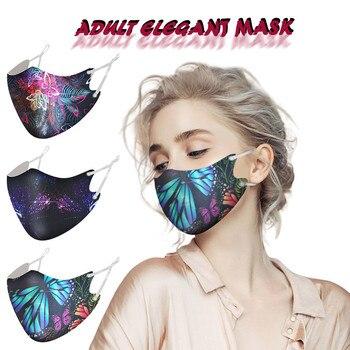 Máscara de moda de 3 piezas Unisex mixta máscara de mariposa máscara...