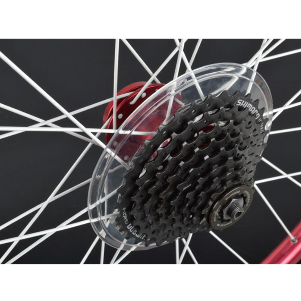 Bike Spoke Protector Guard for Bicycle Rear Wheel Freewheel Cassette BRCshXUI