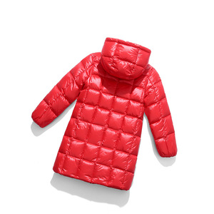 Image 3 - A15 2019 Fashion Girl Clothing Long Down Clothes Winter Boys Down Jacket Kids Warm Light  Hooded Coats Teen Outerwear Parka Coat