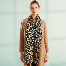 New Luxury brand winter scarf leopard women Soft Pashminas shawls and scarves animal print cape Designer Winter W5