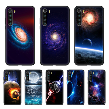Space moon earth mars Phone Case cover For xiaomi Redmi note 4 5 6 7 8 A T X Plus Pro black cell cover 3D bumper fashion back image