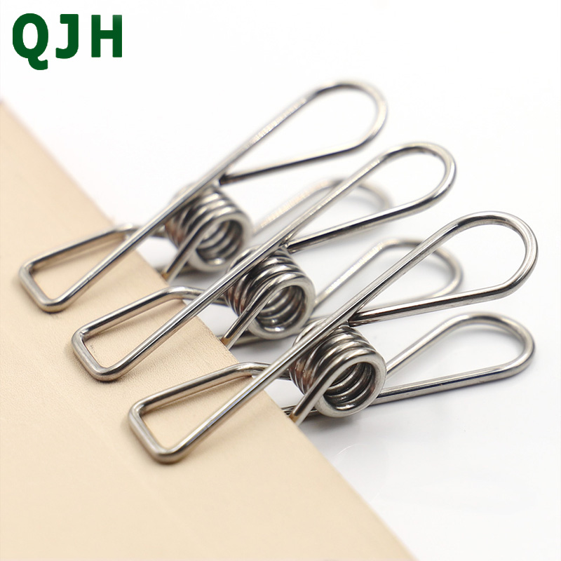 Stainless Steel Metal Spring Clip Leather Craft Tools Silver Clip Clothes Hanging Pegs Clips Clamps Life Supplies Leather Craft