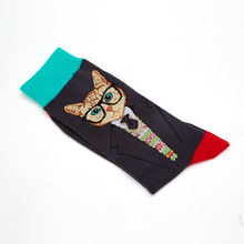 Explosion Models Mens Cotton Funny Colorful Socks Cartoon Animal Spring Autumn and Winter Novelty Gifts